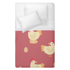 Cute Chicken Eggs Seamless Pattern Duvet Cover (single Size)