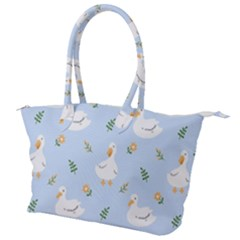 Duck Flower Seamless Pattern Background Canvas Shoulder Bag