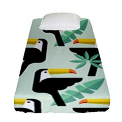 Seamless Tropical Pattern With Birds Fitted Sheet (single Size)