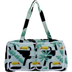 Seamless Tropical Pattern With Birds Multi Function Bag by Bejoart