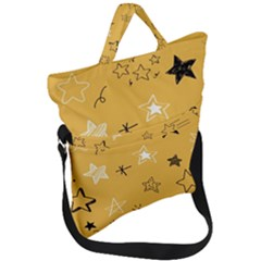 Various Stars Doodle Collection Vector Fold Over Handle Tote Bag