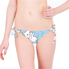 Seamless Little Cat Dragonfly Pattern Bikini Bottom