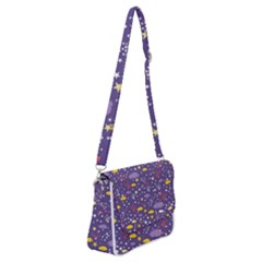 Pattern Cute Clouds Stars Shoulder Bag With Back Zipper by Bejoart