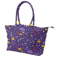 Pattern Cute Clouds Stars Canvas Shoulder Bag by Bejoart