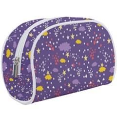 Pattern Cute Clouds Stars Makeup Case (large) by Bejoart