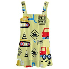 Seamless Pattern Vector Industrial Vehicle Cartoon Kids  Layered Skirt Swimsuit