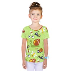 Little Animals Cartoon Kids  One Piece Tee