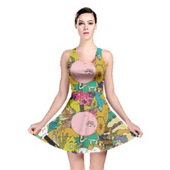 Cartoon Wallpapers Reversible Skater Dress