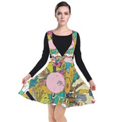 Cartoon Wallpapers Plunge Pinafore Dress