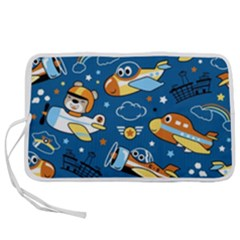 Seamless Pattern With Nice Planes Cartoon Pen Storage Case (m) by Bejoart