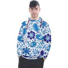 Pattern With Birds Men s Pullover Hoodie