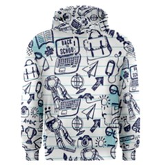 Hand Drawn Back School Pattern Men s Core Hoodie by Bejoart