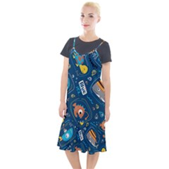 Seamless Pattern Vector Submarine With Sea Animals Cartoon Camis Fishtail Dress
