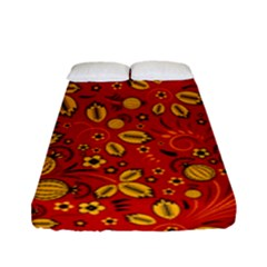Seamless Pattern Slavic Folk Style Fitted Sheet (full/ Double Size)