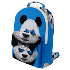 Summer Panda Flap Pocket Backpack (small) by goljakoff