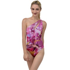 Floral Into Floral L To One Side Swimsuit
