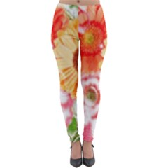 Floral Fantasy Lightweight Velour Leggings by JanetAudreyWilsonShop