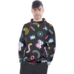Memphis Design Seamless Pattern Men s Pullover Hoodie