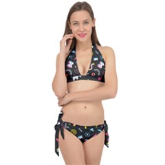 Memphis Design Seamless Pattern Tie It Up Bikini Set by BangZart