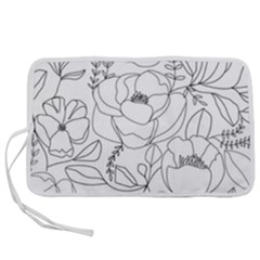Contemporary Nature Seamless Pattern Pen Storage Case (m)