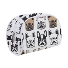 Dog French Bulldog Seamless Pattern Face Head Makeup Case (small) by BangZart