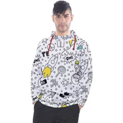 Set Cute Colorful Doodle Hand Drawing Men s Pullover Hoodie