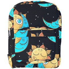 Seamless Pattern With Sun Moon Children Full Print Backpack by BangZart