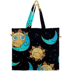 Seamless Pattern With Sun Moon Children Canvas Travel Bag