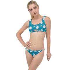 Elegant Swan Pattern With Water Lily Flowers The Little Details Bikini Set