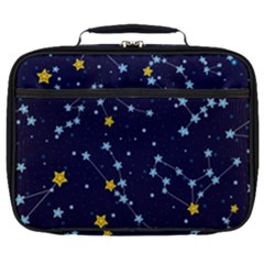 Seamless Pattern With Cartoon Zodiac Constellations Starry Sky Full Print Lunch Bag by BangZart