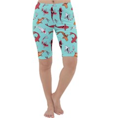 Pattern With Koi Fishes Cropped Leggings
