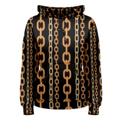 Gold Chain Jewelry Seamless Pattern Women s Pullover Hoodie