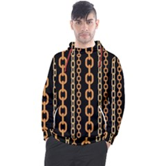 Gold Chain Jewelry Seamless Pattern Men s Pullover Hoodie