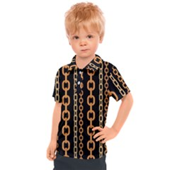 Gold Chain Jewelry Seamless Pattern Kids  Polo Tee