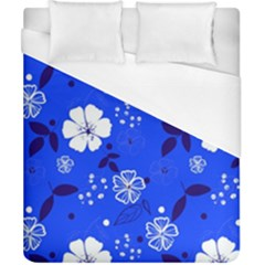 Blooming Seamless Pattern Blue Colors Duvet Cover (california King Size)