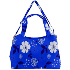 Blooming Seamless Pattern Blue Colors Double Compartment Shoulder Bag by BangZart