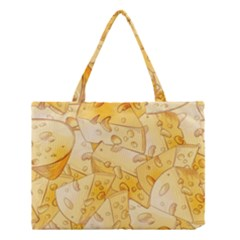 Cheese Slices Seamless Pattern Cartoon Style Medium Tote Bag by BangZart