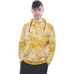 Cheese Slices Seamless Pattern Cartoon Style Men s Pullover Hoodie