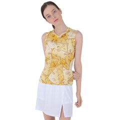 Cheese Slices Seamless Pattern Cartoon Style Women s Sleeveless Sports Top by BangZart