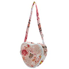Beautiful Seamless Spring Pattern With Roses Peony Orchid Succulents Heart Shoulder Bag
