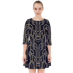 Art Deco Geometric Abstract Pattern Vector Smock Dress