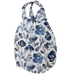 Indigo Watercolor Floral Seamless Pattern Travel Backpacks by BangZart
