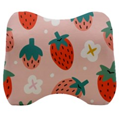 Strawberry Seamless Pattern Velour Head Support Cushion by BangZart
