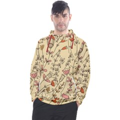Seamless Pattern With Different Flowers Men s Pullover Hoodie