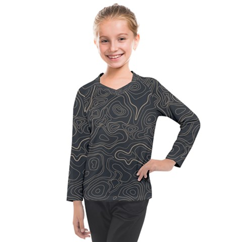 Damask Seamless Pattern Kids  Long Mesh Tee by BangZart