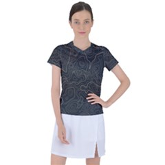 Damask Seamless Pattern Women s Sports Top
