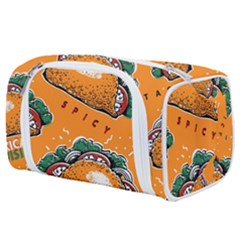 Seamless Pattern With Taco Toiletries Pouch