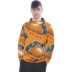 Seamless Pattern With Taco Men s Pullover Hoodie