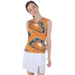 Seamless Pattern With Taco Women s Sleeveless Sports Top by BangZart