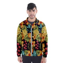 Fabulous Colorful Floral Seamless Men s Windbreaker